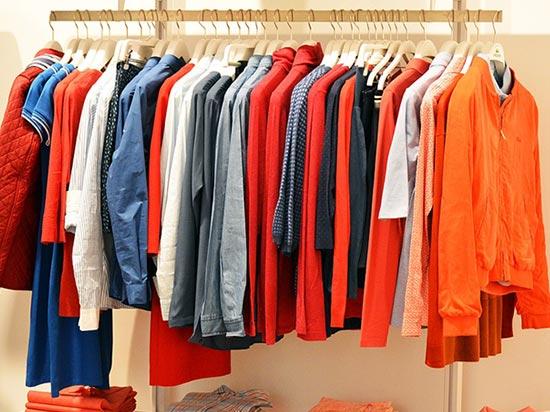 Arara em loja de roupas