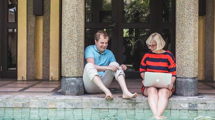 Idéia inovadora de casal empreendedor