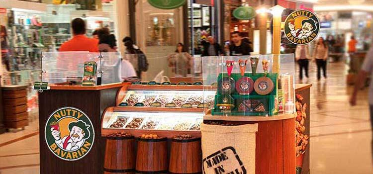 Franquia barata de quiosque Nutty Bavarian