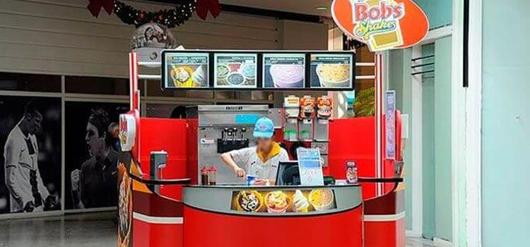 Franquias de quiosques de alimentação sorvete Bobs