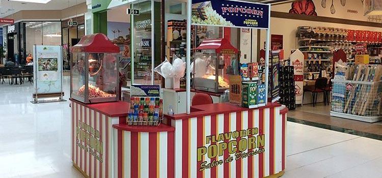 Quiosque da franquia Flavored Popcorn