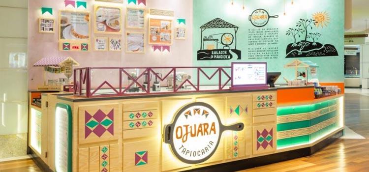 Quiosque da franquia Tapiocaria Ojuara