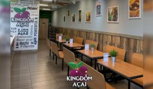 Interior da Loja da franquia Kingdom Açaí