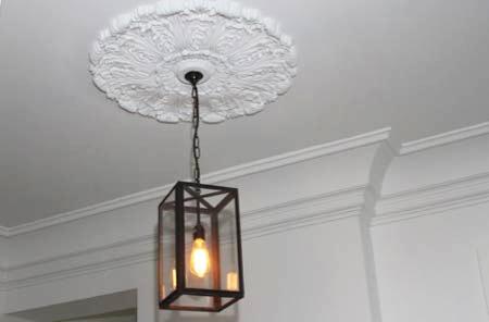 Moldura de gesso para luminária